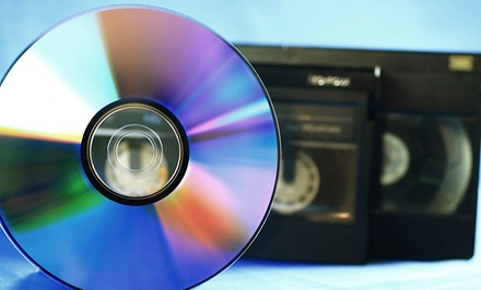 CD or DVD Transfers from Universal Video Conversions (Up to 60% Off). Three Options Available.