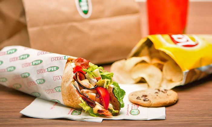 Pita Pit - Baltimore - Downtown: Healthy Pita Sandwiches and Meals at Pita Pit (62% Off) Two Options Available.