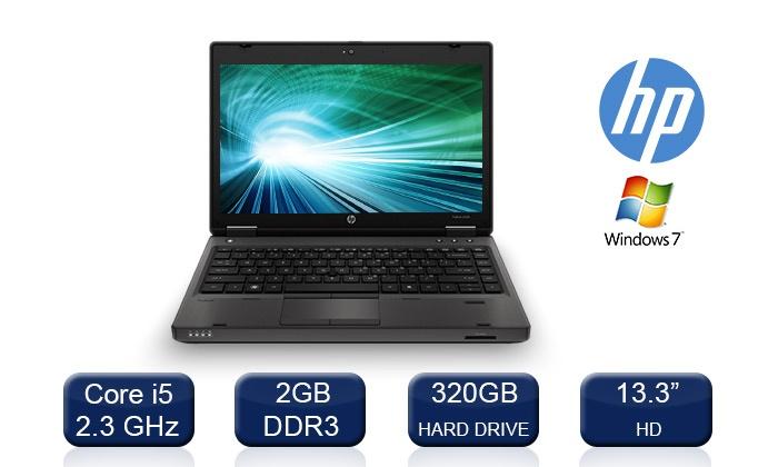 מחשב נייד HP עם מסך 13.3, מעבד Core i5, זיכרון GB2/4, דיסק GB320 מערכת הפעלה WIN 7, החל מ-899 ₪ כולל אחריות VIP