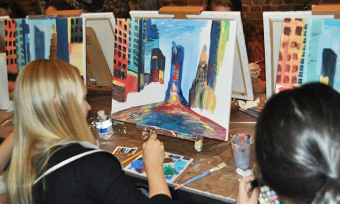 Art By The Glazz - Multiple Locations: Adult Painting Session at Art By The Glazz (Up to 55% Off). Two Options Available.