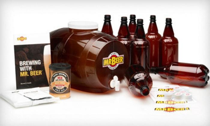 Beer Home-Brewing Beer Kit: $39.99 for a Mr. Beer Premium Edition Home-Brewing Beer Kit and Refills ($90.79 List Price)