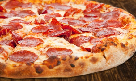 $18 for $32 Worth of Sicilian-Style Pizza, Pasta, and Sandwiches at Happy Pizza