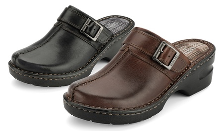 Eastland Mae Women's Leather Clogs in Black or Brown