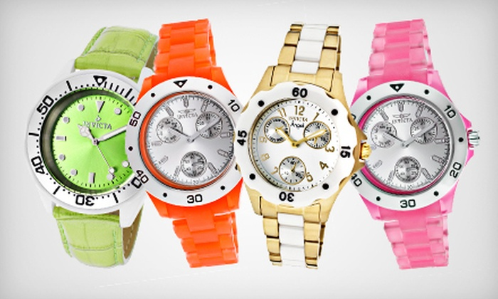 Men's and Women's Invicta Watches: Men's and Women's Invicta Watches (Up to 95% Off). Multiple Styles and Colors Available. Free Shipping.