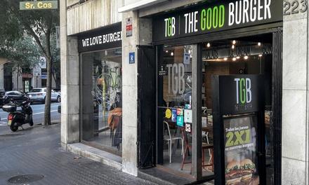 Menú de hamburguesa para dos personas con entrante, principal y bebida por 12,95 € en The Good Burger