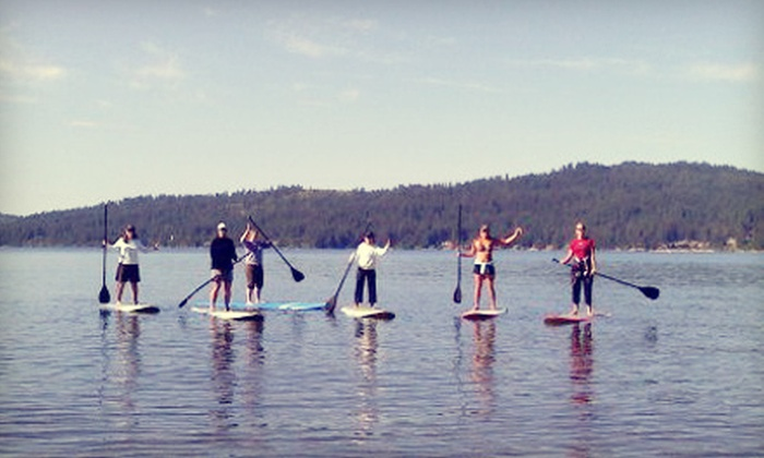 Coeur d'Alene Paddle Board Company - Downtown Coeur d'Alene: Paddleboard Lesson, Five Guided Paddles, or Two Board Rentals from Coeur d'Alene Paddle Board Company (Up to 67% Off)