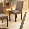 Set of Two Fabric Dining Chairs