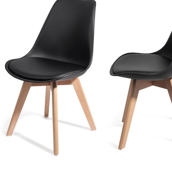 Lot de 2 ou 4 chaises scandinaves Brekka, coloris au choix