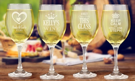 for Personalised Wine Glasses Don't Pay up to $359.88