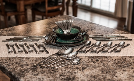 Cuisinart 45-Piece Flatware Sets. Multiple Designs Available.