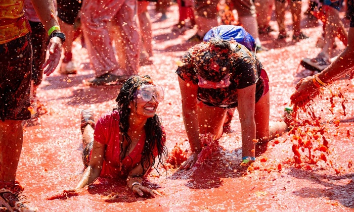 The Great Bull Run - Elk River: $22 for One Entry into Tomato Royale Food Fight on Saturday, June 21 ($45 Value)
