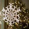Snowflake Mango-Wood Ornament