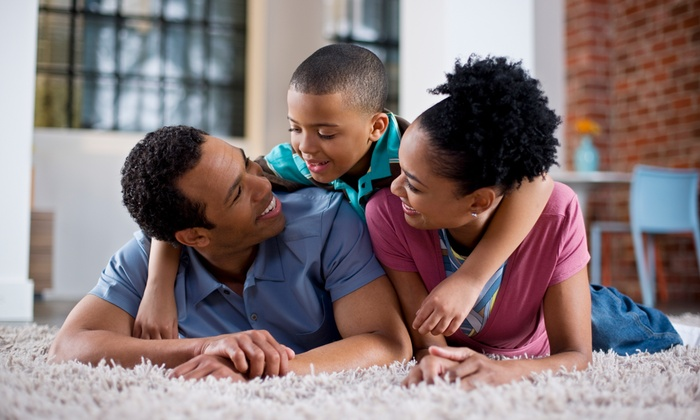 Clean & Bright - San Antonio: Three Rooms of Steam Carpet Cleaning from Clean& Bright (55% Off)