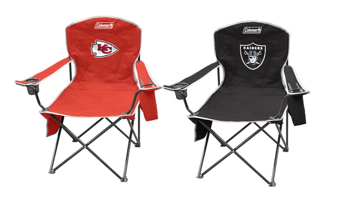 2 Pack Of NFL Cooler Quad Chairs | Groupon Goods