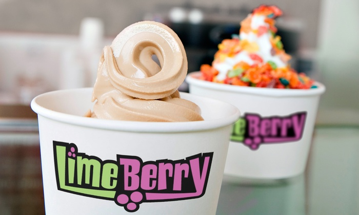 Limeberry - Multiple Locations: Three Groupons, Each Good for $4 Worth of Frozen Yogurt and Toppings at LimeBerry (Up to 50% Off)