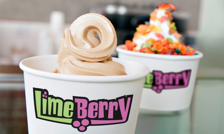 Four or Eight Groupons, Each Good for $8 Worth of Frozen Yogurt and Toppings at LimeBerry (Up to 50% Off)