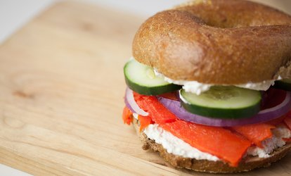 image for Bagel Sandwiches, Muffins, and Coffee at Big Apple Bagels (40% Off)