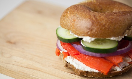 Dozen Bagels or Two Groupons, Each Good for $10 Worth of Bagels & Sandwiches at Sam's Hot Bagels (Up to 41% Off)