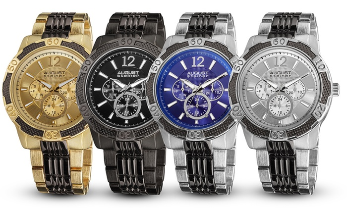 August Steiner Men's Watches: $59.99 for an August Steiner Men's Watch (Up to $445 List Price). Multiple Styles Available. Free Shipping and Returns.