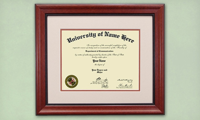 FrameStoreDirect.com: Classic-Design Diploma-Framing Package with Shipping Included from FrameStoreDirect.com (Up to 61% Off). Four Sizes Available.