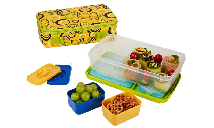 kids 39 insulated bento lunch kit groupon goods. Black Bedroom Furniture Sets. Home Design Ideas