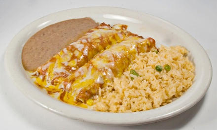 $6.50 for $12 Worth of Mexican Food or Enchiladas for 2 at Jalisco's Restaurant & Bar (Up to 46% Off)