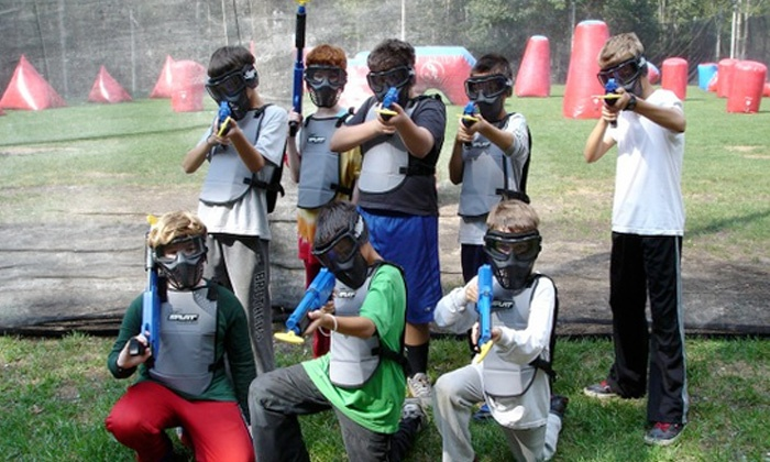 Jungle Island Paintball & Airsoft Park - Alberhill District: Paintball Party or Packages for 1 or 2 Kids Age 6-12 at Jungle Island Paintball & Airsoft Park (Up to 52% Off)