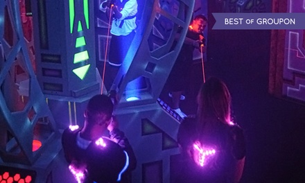 Laser Tag for Two, Four, or Six at AirMaxx Trampoline Park (Up to 47% Off)