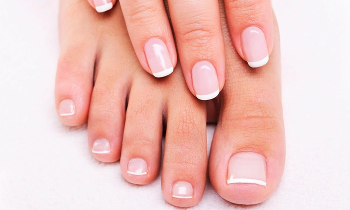 Bellizzima Hair & spa - College Park: Signature Shellac Manicure, Lavender Pedicure, or Both at Bellizzima Hair & Spa (Up to 52% Off)