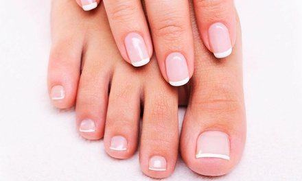One or Three Manicures and Vinylux Spa Pedicures, or One Vinylux Spa Pedicure at Salon Bella (Up to 56% Off)