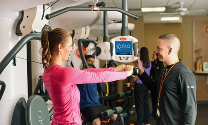Koko FitClub - Multiple Locations: $49 for Consultation, 18 Smartraining and Cardio Sessions, Webpage, and a Nutrition Program at Koko FitClub ($200 Value)