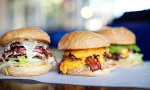 North Fork Bacon & Smokehouse: Sandwiches and Burgers for Two or Full Barbecue Chicken Meal at North Fork Bacon & Smokehouse (Up to 34% Off)