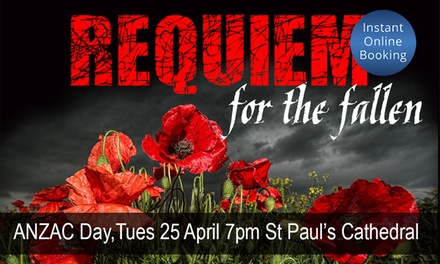 $35 for Ticket to Requiem for the Fallen by Royal Melbourne Philharmonic, Tuesday 25 April Up to $55 Value