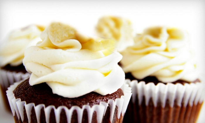 Bluebonnet Cupcakery - Amarillo: One or Two Dozen Jumbo Cupcakes from Bluebonnet Cupcakery (Up to 58% Off). Six Options Available.