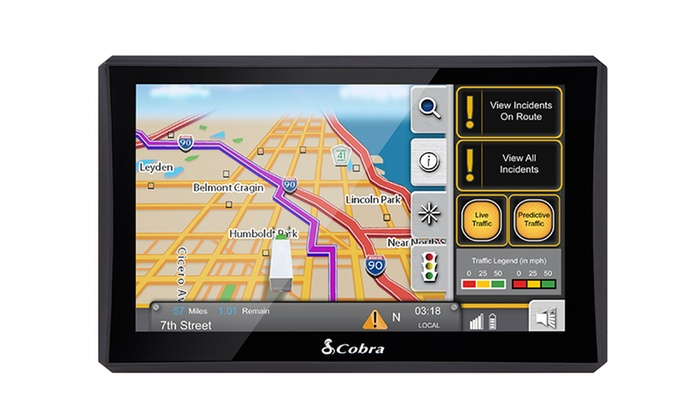 """Cobra 7"""" GPS Navigation Systems with Lifetime Maps and Traffic (Refurbished)"""