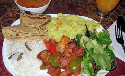 Vegetarian Indian Buffet for Two or Four at Govinda's (Up to 53% Off)