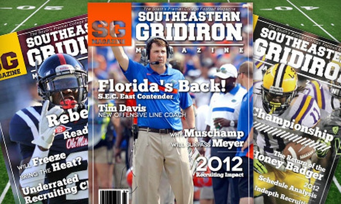"Southeastern Gridiron Magazine - Gainesville: One-Year Silver or Gold or Two-Year Gold Subscription to ""Southeastern Gridiron Magazine"" (Up to 75% Off)"
