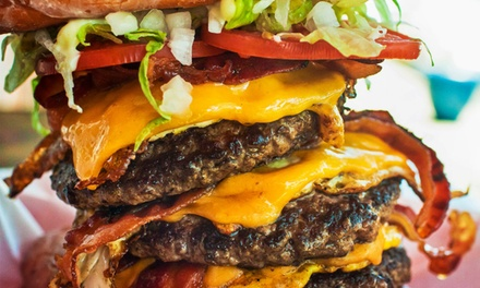 Burgers, Sides, and Shakes or Drinks for Two or Four at BYOB Burger Co (Up to 59% Off). Four Options Available.