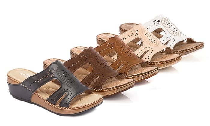 b86d86497a2 Lady Godiva Women s Comfort Wedge Sandal