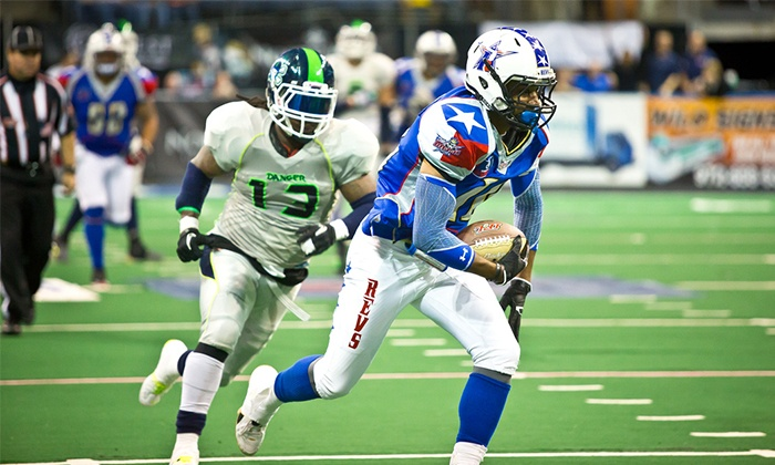 Texas Revolution vs. New Mexico Gladiators - Allen Event Center: Texas Revolution Indoor Football Game at Allen Event Center on May 29 (Up to 49% Off). Three Seating Options Available.