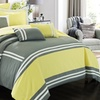 Eleanor Striped Comforter Sets with Sheets (10-Piece)