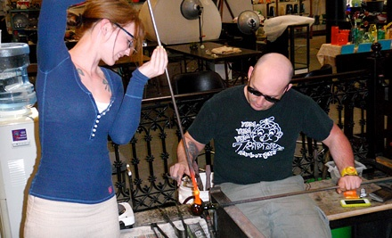 Mother's Day Glass-Blowing Project for One or Two at Uptown Glassworks (Up to 59% Off)
