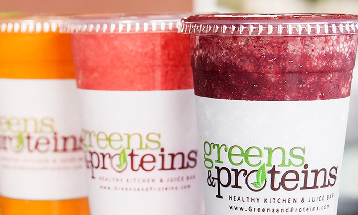 Greens and Proteins - Multiple Locations: $6 for $12 Worth of Healthy Food for Two at Greens and Proteins