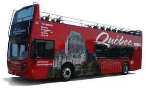 Tours du Vieux Québec: C$14.99 for a Double Decker Evening Tour for One with Old Quebec Tours (C$28.70 Value)