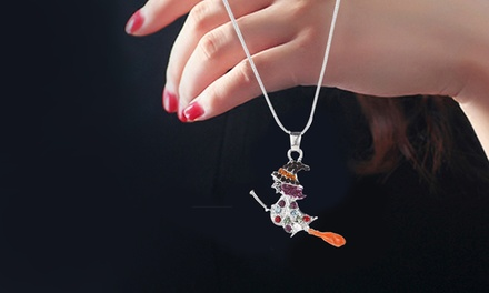 One, Two, or Three Swarovski Elements Flying Witch Pendants from Novadab (Up to 76% Off)