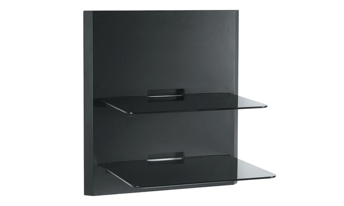 Omnimount Owbf2 Double Glass Component Wall Shelf Groupon