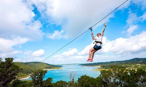 Lake Travis Zipline Adventures: Zipline Tour for One or Two at Lake Travis Zipline Adventures (Up to 33% Off)
