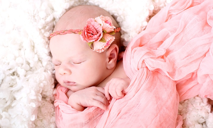Baby Photoshoot with Four Prints at Belles and Beaus Photography