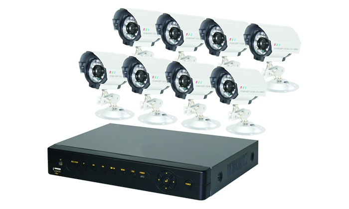 Free Delivery: Eight-Channel Surveillance CCTV Network DVR System Kit for R4 999 Including Delivery (29% off)