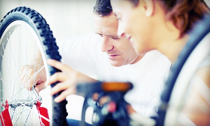Ride615 - Nashville-Davidson metropolitan government (balance): Flat-Tire Change with Tube Replacement or Bike Tune-Up at Ride615 (Up to 60% Off)